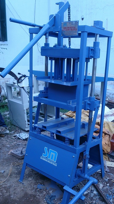 """Manual Hollow Block Machine Single Stroke"""